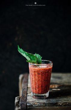 Nettle shake: Strawberries and Rhubarb (recipe) / by Marta Greber