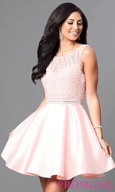 Shop short prom dresses and short formal gowns at PromGirl. Short prom dresses, formal short dresses, semi-formal short dresses, short party dresses for prom, and short dresses for prom Dama Dresses, Hoco Dresses, Blush Dresses, Dresses For Teens, Pretty Dresses, Dinner Dresses, Grade 8 Grad Dresses, School Dance Dresses, Grad Dresses Short