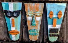 BEACH BROTHERS, Tribal Mask Set, Tiki Mask, Bar Decor, Hawaiian Tiki, Polynesian