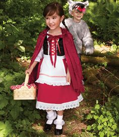 little red riding hood costume $79 - and there's a big bad wolf costume for brother!