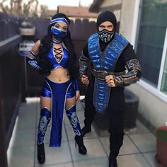 Halloween costume idea kitana sub zero