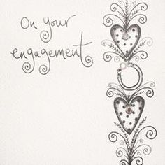 On Your Engagement Handmade Engagement Card