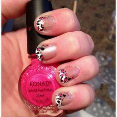 Leopard print mani. Nails by Michelle Edwards
