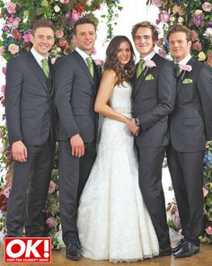 Tom Fletcher And Giovanna Falcone S Exclusive Wedding Pictures Are In This Week Ok Magazine Mcfly