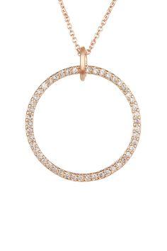 Rebecca Minkoff | Crystal Circle Pendant Necklace