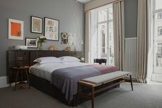 Made in England - AD España, © Cortesía de 'The Laslett Una de las suites principales del hotel, con muebles de las firmas inglesas Pinch y Race y lámparas de Nocturne.