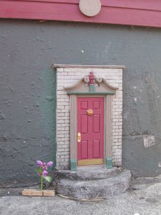 fairy doors. These are all over Ann Arbor Michigan.  There is even a reported Goblin door somewhere in the city!