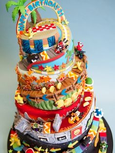 All the latest news, photos and cake-related goings on at Crumbs & Doilies Mario Birthday Cake, Candy Birthday Cakes, Super Mario Birthday, Frozen Birthday Party, 5th Birthday, Birthday Ideas, Birthday Parties, Mario Kart Cake, Mario Bros Cake