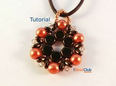 Honeycomb Pendant Pattern, SuperDuo Pendant Pattern, Beading Pattern Instant Download PDF- Flower Cup Pendant Tutorial by TheBeadClubLounge on Etsy
