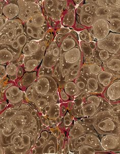 Vintage 19th c. marbled paper, Shell pattern