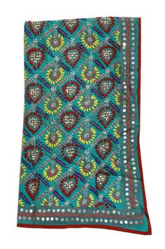 Dupatta with intrinsic hand woven pattern