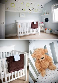 Home Attic Baby Room Infant bed Nursery Wall Ceiling Product Furniture Baby Bedroom, Baby Boy Rooms, Baby Boy Nurseries, Girls Bedroom, Kids Rooms, Bedrooms, Pale Blue Nursery, Interior Design Yellow, Yellow Bedding
