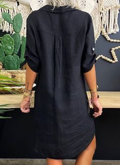 Casual Wear, Casual Dresses, Fashion Dresses, Summer Dresses, Trend Fashion, Look Fashion, Half Sleeves, Types Of Sleeves, Linen Dresses