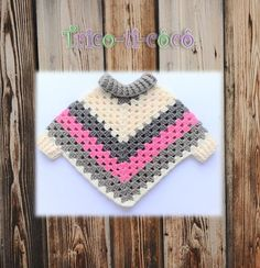 For essential oil aromatherapy diffuser necklace. Crochet Shawl Diagram, Crochet Poncho Patterns, Granny Square Crochet Pattern, Baby Knitting Patterns, Knit Crochet, Baby Girl Crochet, Crochet Baby Clothes, Beautiful Crochet, Crochet Baby Dresses