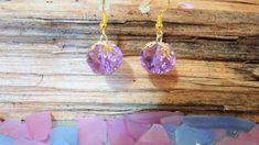 Excited to share the latest addition to my #etsy shop: Purple Color Quartz Earrings Golden Covers Gold Hooks Pale Sapphire / Lilac Gold Earrings Fashion Accessories Womens Jewelry Gift for Her http://etsy.me/2Cw6mi3