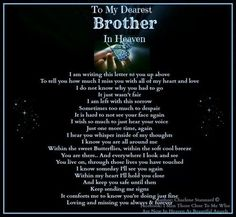 Image result for words for anniversary of my brother's death