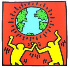 Last one -- since earth day just past. Excuse the Haring tribute, but I cannot help celebrate one of my favorite artists!