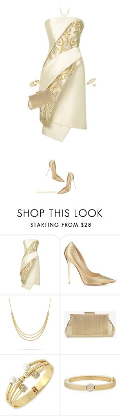 """""""New Year Gold!"""" by houston555-396 ❤ liked on Polyvore featuring Bibhu Mohapatra, Jimmy Choo, Marco Bicego, Whiting & Davis, BCBGeneration, Chloé and Kobelli"""