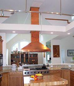 Modern Copper Hood | Hood Contemporary Kitchen Travertine Flooring, Copper  Ventilation Hood .