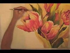 How to Paint in Watercolor - Watercolor Painting of Tulips