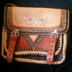 Authentic Mexican Cowhide Leather Crossbody Handmade Mexican cowhide crossbody. I never used this. I bought this mainly to look at it because it's beautiful. It didn't come with a tag but it's never been used. I think I can let go of it now. Bags Crossbody Bags