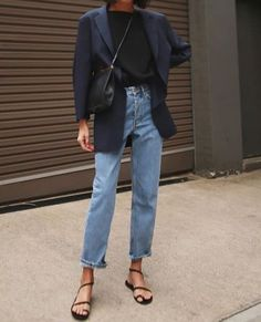 32 ideas how to wear denim dress winter chic for 2019 – Style Mode Outfits, Casual Outfits, Fashion Outfits, Fashion Trends, Womens Fashion, Blazer Outfits, Fashion Clothes, Denim Outfit, Classic Outfits