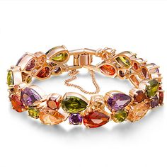 Fancydeli© Mothers Day Gifts Rose Gold Plated Women Zircon Bracelet for Mother Women ** A special jewelry just for you to view. See it now! : trend jewelry 2016