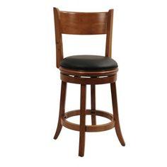 cherry wood swivel stool
