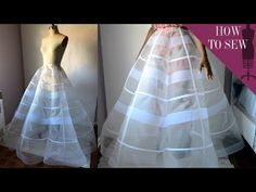 Petticoat for Wedding Dress . 30 Petticoat for Wedding Dress . Videos Matching Making A Panel Ball Gown Petticoat Skirt Diy Gown, Diy Dress, Petticoat For Wedding Dress, Crinoline Skirt, Ball Gown Dresses, Evening Dresses, Bridal Dresses, Prom Dress, Ball Skirt