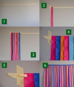 Passo a passo como fazer painel de festa com papel crepom Step by Step How to Make Party Panel with Crepe Paper Mexican Birthday Parties, Unicorn Birthday Parties, Unicorn Party, Birthday Party Themes, Birthday Party Decorations Diy, Wine Birthday, Birthday Diy, 10th Birthday, Diy Halloween Party