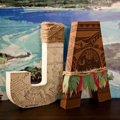 QUICK SHIP Moana Paper Mache Letters