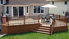 Photo of a TREX Deck With Curved Steps and Railings