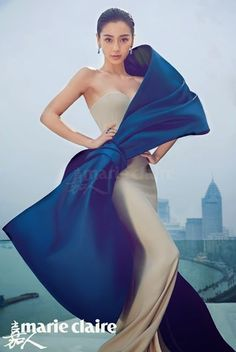 Racing Fashion: Angelababy in Haute Couture by Chen Man for Marie Claire