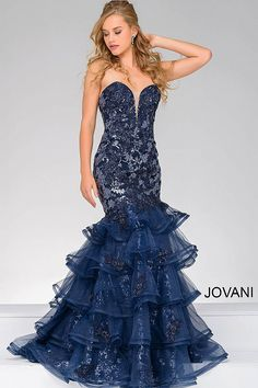 Beautiful in blue #JOVANI #31021