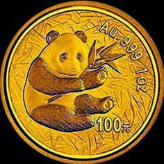 Information about the 1 oz. Chinese Gold Panda Bullion Coin, including photos, mintage figures, where to buy, and other interesting investment information about the coin