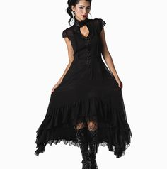 Chiffon and satin dress