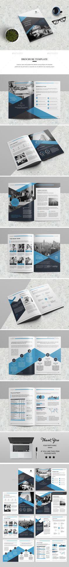 Annual Report Annual reports, Brochures and Brochure template - company report template