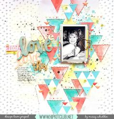 Hip Kit Club DT Project - 2017 January Hip Kits; Hip Kit exclusive papers, die cuts & wood veneer; Hazelwood One Canoe Two cork, enamel triangles and stickers; Pink Paislee Moonstruck Puffy Stickers; Heidi Swapp Texture Pastes; Shimmerz Paints