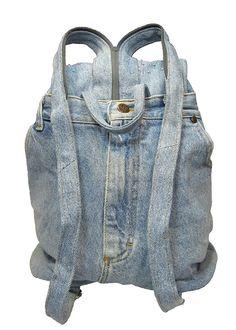 Upcycled Handmade Beaded Blue Denim Backpack