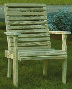 The Pine Wood Rollback Outdoor Chair from DutchCrafters Amish Furniture will support outdoor activities like bird watching, reading, star gazing, and s'more toasting. #outdoorfurniture #patio #comfortable #wooden #seating