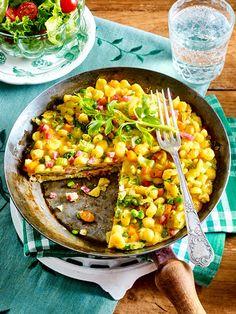 In diesem schnellen Omelett stecken lauter leckere Sachen!