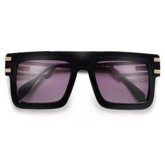 f2bb33cbb53 54mm Flat Top Double Metal Temple 80 s Designer Sunglasses Kim Kardashian  Sunglasses
