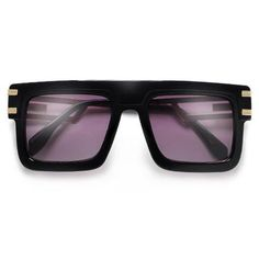 708caa2ec8 54mm Flat Top Double Metal Temple 80 s Designer Sunglasses Flat Top  Sunglasses