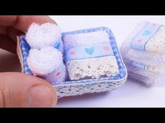 DIY Miniature Bath Towels in a Basket - YouTube