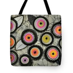 Flowers Tote Bag featuring the painting Flower Series 2 by Graciela Bello
