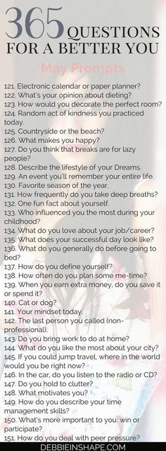 365 Q's for a better you - Pinterest @catherinesullivan2017✨