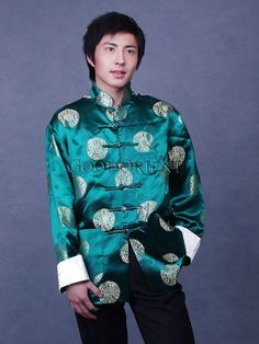 Green Blessing Brocade Jacket