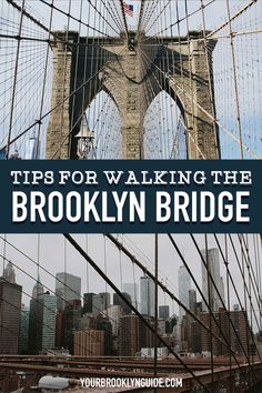Walking the Brooklyn Bridge guide Brooklyn Bridge Pictures, Brooklyn Bridge Walk, Brooklyn Things To Do, Travel Usa, Travel Tips, Travel Guides, Nyc Instagram, Nyc Hotels, New York City Travel