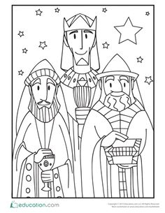 christmas first grade coloring holiday worksheets 3 wise men - Free Coloring Christmas Pictures 3