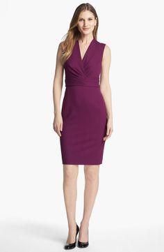 Classiques Entier Italian Ponte Surplice Dress  Size 10  #ClassiquesEntier #WeartoWork